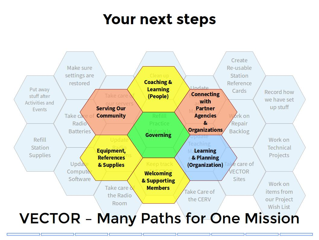Many paths in VECTOR to serve a just cause